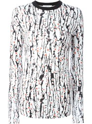 Carven Zebra Print Knit Top White
