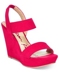 American Rag Audria Two Piece Platform Wedges Only At Macy's Women's Shoes Red