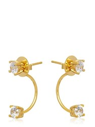 Maria Francesca Pepe The Bling Ring Split Stud Earrings