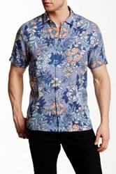 Tommy Bahama Martinique Batik Original Fit Shirt Blue
