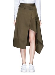 Ffixxed Studios 'Boundary' Asymmetric Mock Wrap Front Skirt Green