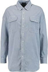 R 13 R13 Oversized Denim Shirt Light Denim