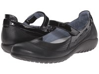 Naot Footwear Kirei Black Madras Leather Shiny Black Leather Black Patent Ii Women's Maryjane Shoes
