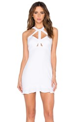 Oh Boy Vestido Recorte Dress White