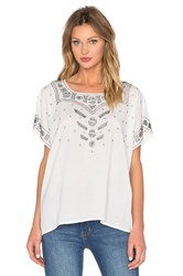 The Great Beaded Willow Tunic Top White