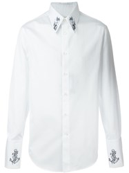 Alexander Mcqueen Tattoo Embroidered Shirt White