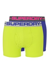 Superdry 2 Pack Shorts Cuba Green Aloha Blue