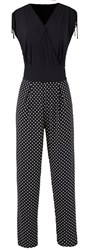 Grace Made In Britain Polka Jumpsuit Black