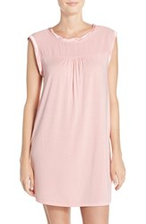 Midnight By Carole Hochman Women's Jersey Chemise Rose