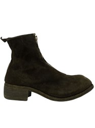 Guidi Front Zip Boots Green