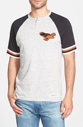 Men's Mitchell And Ness 'Baltimore Orioles Visiting' Raglan Henley