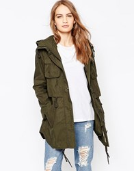 Parka London Longline Khaki Green