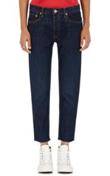 Re Done Women's Relaxed Crop Straight Leg Jeans Navy