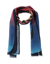 Adam Kimmel Accessories Oblong Scarves Women Slate Blue