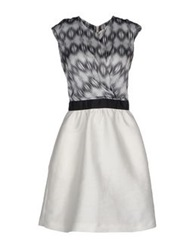 Michelle Windheuser Short Dresses Grey