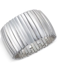 Charter Club Silver Tone Bar Stretch Bracelet Only At Macy's