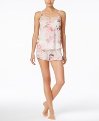 Flora By Flora Nikrooz Flora Nikrooz Annabelle Floral Print Camisole And Shorts Pajama Set Ivory