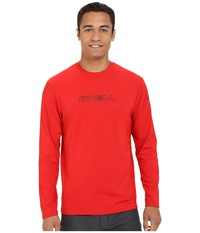 O'neill Basic Skins L S Rash Tee Red Men's Swimwear