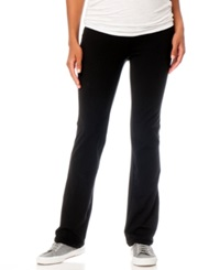 Motherhood Maternity Bootcut Maternity Yoga Pants Black
