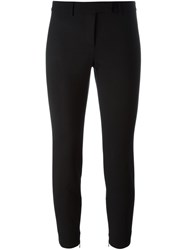 Alexander Mcqueen Cropped Slim Fit Trousers Black