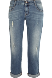 Stella Mccartney Tomboy Distressed Low Rise Boyfriend Jeans