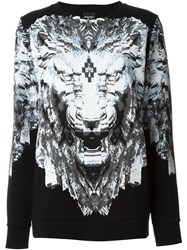 Marcelo Burlon County Of Milan Lion Print Sweatshirt Black