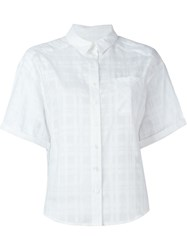 Burberry Brit Shortsleeved Checked Shirt White