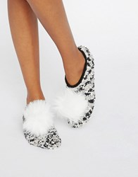 Asos Christmas Cosy Footlet Socks With Pom Multi