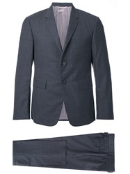 Thom Browne Notched Lapel Formal Suit Grey