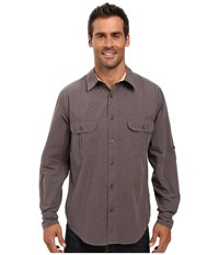 Woolrich Midway Solid Shirt Slate Men's Short Sleeve Button Up Metallic