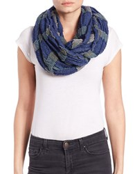 Cejon Striped Loop Scarf Navy Blue