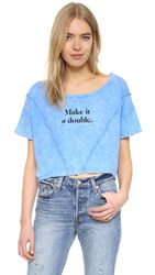 Wildfox Couture Keep 'Em Coming Thelma Tee Azure Blue