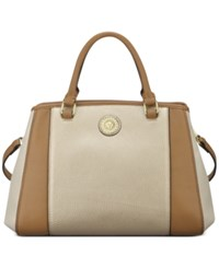 Anne Klein Kick Start Medium Satchel Bone