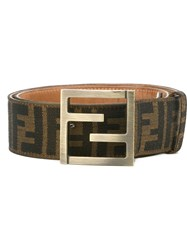 Fendi Vintage Ff Logo Belt Brown