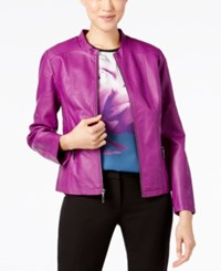 Alfani Seamed Faux Leather Jacket Only At Macy's Iris Glow
