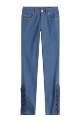 Alexander Mcqueen Cropped Skinny Jeans Blue