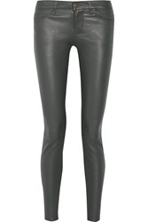 Current Elliott Leather Skinny Pants Gray