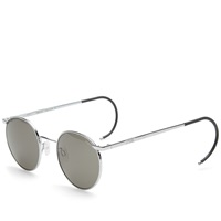 Randolph P3 Sunglasses Bright Chrome And Grey