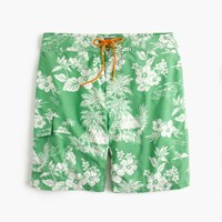 J.Crew 9' Board Short In Tropical Floral Tropical Green