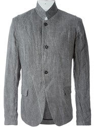 Lost And Found Mandarin Collar Jacket Grey