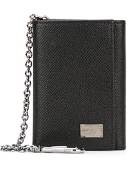 Dolce And Gabbana Clip Chain Wallet Black