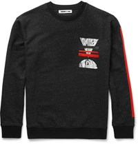Mcq By Alexander Mcqueen Printed Loopback Cotton Blend Jersey Sweatshirt Black