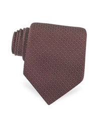 Christian Dior Dotted Logo Woven Silk Tie Burgundy