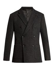 Helbers Unconstructed Double Breasted Blazer Charcoal