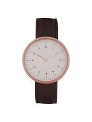 Mmt C 34 Gold Plated And Leather Watch
