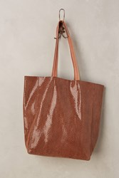 Anthropologie Kata Leather Tote Brown