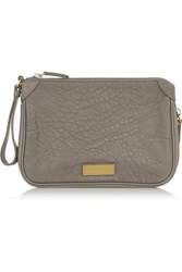Marc By Marc Jacobs Washed Up Textured Leather Clutch Nude