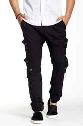 Antique Rivet Dave Twill Cargo Jogger Black