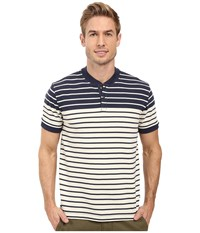 Nautica Short Sleeve Yd Racer Henley Bone White Men's Short Sleeve Pullover