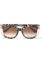 Thierry Lasry Nevermindy Cat Eye Acetate Sunglasses Brown Tortoiseshell